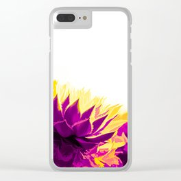 Purple and Yellow Houseleeks Clear iPhone Case