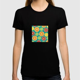 citrus pattern T-shirt