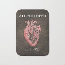 Anatomy Art - All You Need Is Love Bath Mat