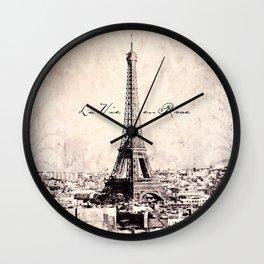 la Vie en Rose vintage Wall Clock