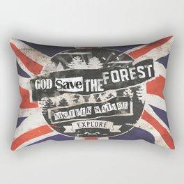 God save the forest Rectangular Pillow