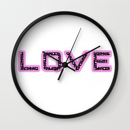 [Glittered Outline Effect Variant] Love's Simple Wall Clock