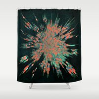 edm Shower Curtains featuring Tread Lightly by Obvious Warrior
