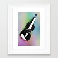 violin Framed Art Prints featuring Violin by Christine baessler