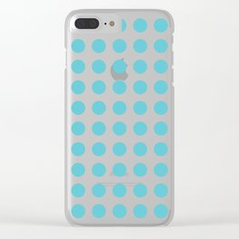 Simply Polka Dots in Seaside Blue Clear iPhone Case
