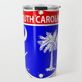 South Carolina Flag Icons As Interstate Sign Travel Mug