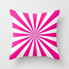 Starburst (Magenta/White) Throw Pillow