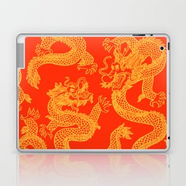Red and Gold Battling Dragons Laptop & iPad Skin