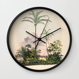 Tree astrocaryum vulgare L  cocos nucifera L 9 Wall Clock