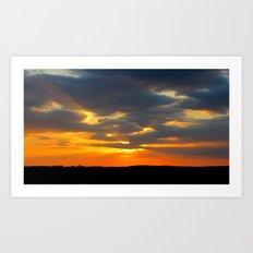 MM - Beautiful sunset Art Print