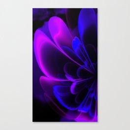 Stylized Half Flower Indigo Canvas Print