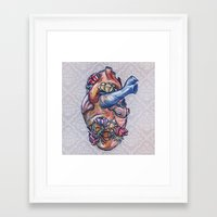 valentine Framed Art Prints featuring Valentine by Manfish Inc.