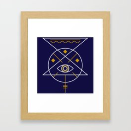 Sacred Geometry All Knowing Eye Cool Abstract Design Framed Art Print