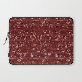 Paisleys in Maroon - by Fanitsa Petrou Laptop Sleeve