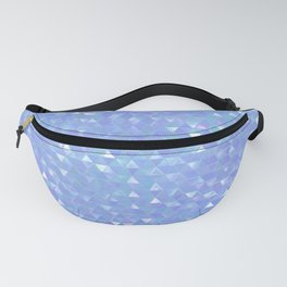 Blue Violet Triangles Fanny Pack