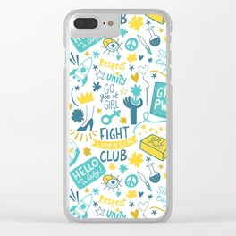Fight like a girl sisterhood Clear iPhone Case