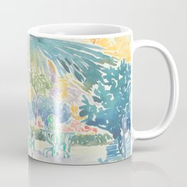 Garden of the Painter at Saint Clair by Henri-Edmond Cross 1908, French Coffee Mug