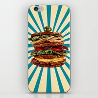 catcher in the rye iPhone & iPod Skins featuring Turkey Club on Rye by Kelly Gilleran