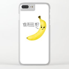 You Peeeel Me? Clear iPhone Case