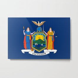 New York State Flag Metal Print