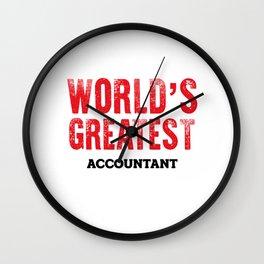 World's Greatest Accountant Wall Clock