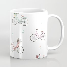 Bikes and Baskets Pattern Coffee Mug