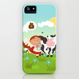 The milkmaid iPhone Case
