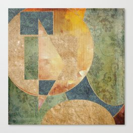Abstract Grunge Patchwork Canvas Print