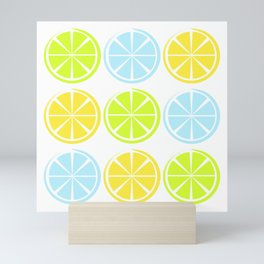 Colorful fruits mix Mini Art Print