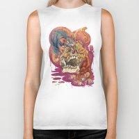 gemma Biker Tanks featuring Rat Calaveria by Gemma Pallat by ToraSumi