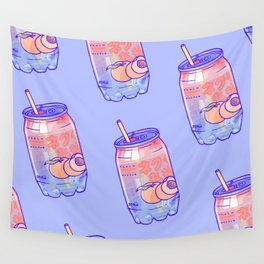 Peach Bubbles Wall Tapestry