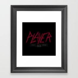 Slayer Player Framed Art Print