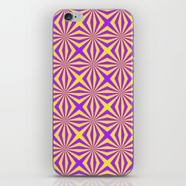 Sunbeams in Violet and Yellow Tiled iPhone Skin