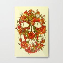 Skull Flora Metal Print