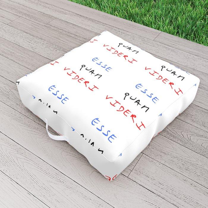 motto of north carolina – esse quam videri Outdoor Floor Cushion