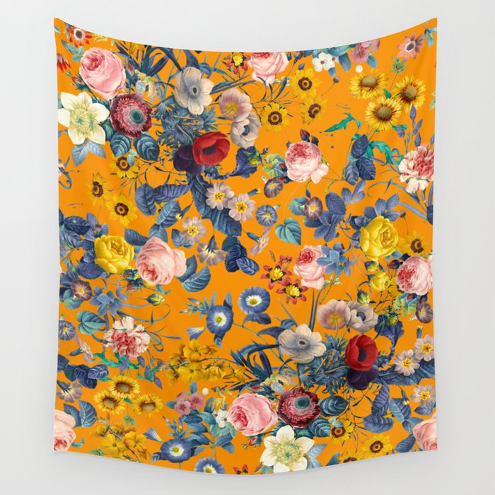 Summer Botanical Garden IX Wall Tapestry