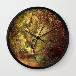 Autumn Weavers Wall Clock