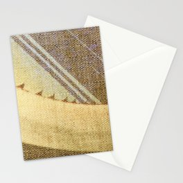 Agave Cactus on burlap cloth Stationery Cards