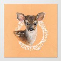 fawn Canvas Prints featuring Fawn by Gribanessa