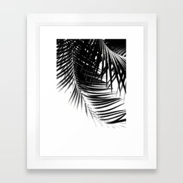 Palm Leaves Black & White Vibes #1 #tropical #decor #art #society6 Framed Art Print