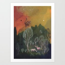 Moons of Shadow and Light Art Print
