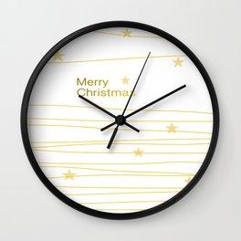 Merry Christmas  #society6 #decor #christmas Wall Clock