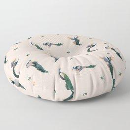 Pink Peacocks Floor Pillow