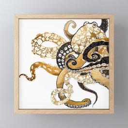 Metallic Octopus Framed Mini Art Print