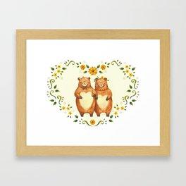 love bear Framed Art Print
