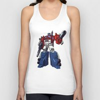 optimus prime Tank Tops featuring Optimus by CromMorc