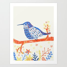 Like a Hummingbird  Art Print