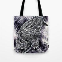 raven Tote Bags featuring Raven by BIOWORKZ