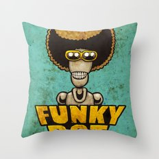FunkyBot Throw Pillow