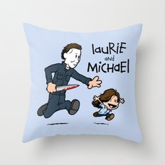 Laurie and Michael Throw Pillow